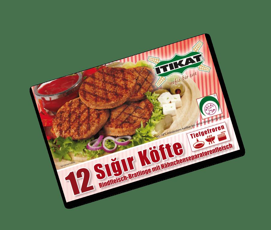 paket sığır köfte, Sığır Köfte 12 x 65 g, itikat helal sığır köfte