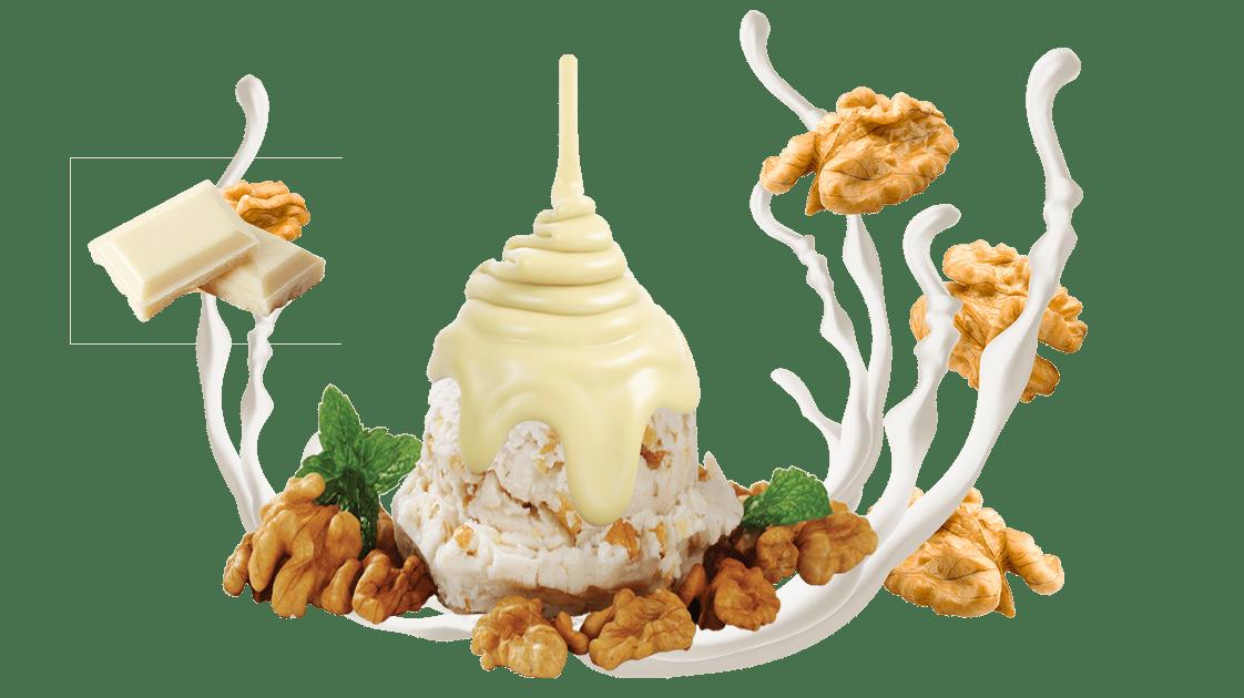 Cevizli Beyaz Çikolatalı Dondurma, lezzetli dondurma, itikat Cevizli Beyaz Çikolatalı Dondurma