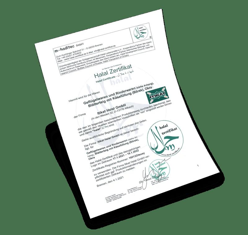 itikat helal sertifikası